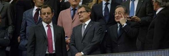 Rosell Barcelona Florentino Real Madrid y Mas Presidente de la Generalitat