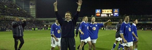 Martin O'Neill, con el Leicester.