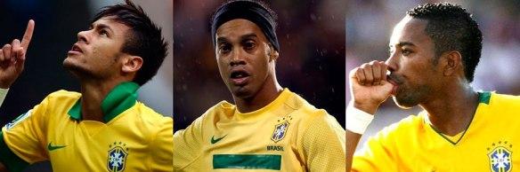 Neymar-Ronaldiho-Robinho