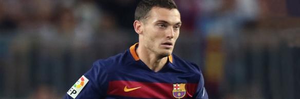 BARCELONA, 05-08-2015. Camp Nou Stadium, Joan Gamper Trophy. 2015 / 2016. Barcelona - Roma. Thomas Vermaelen of Barcelona.